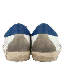 Golden Goose White/Blue Leather Superstar Sneakers Size EU 41