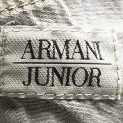 Armani Junior Beige Cold Pigment Overdyed Cotton Cargo Pants 8Yrs