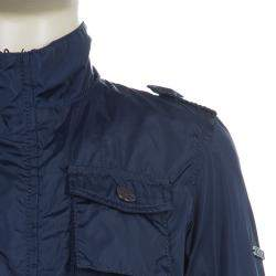 Cesare Paciotti 4US Navy Blue Trench Coat 3 Yrs