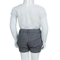 Chloe Grey Textured Cotton Shorts 18 Months