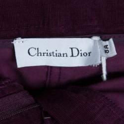 Dior Burgundy Corduroy Mini Skirt 8 Yrs