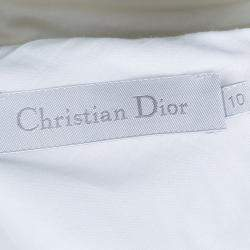 Dior White Mesh Multicolor Polka-Dot Embroidered Top 10 Yrs