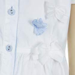 GF Ferre White Swarovski Logo Dress 6 Yrs