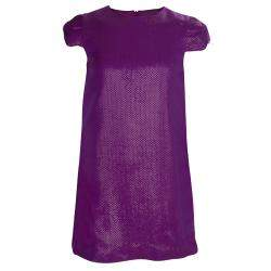 Gucci Purple Brocade Cap Sleeve Dress 8 Yrs