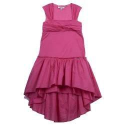 Gaultier Junior Pink Tiered Sleeveless Cotton Dress 8 Yrs