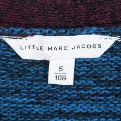 Little Marc Jacobs Colorblock Knit Buttondown Cardigan 5 Yrs