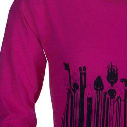 Little Marc Jacobs Pink Printed  Long Sleeve T-Shirt 8 Yrs