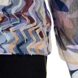 Missoni Multicolor Mesh Applique Long Sleeve T-Shirt 8 Yrs