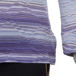 Missoni Purple Striped Long Sleeve Collared T-Shirt 10 Yrs