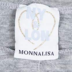 Monnalisa NY & LON Grey Daisy Duck and Minnie Mouse Printed T-shirt 10 Yrs
