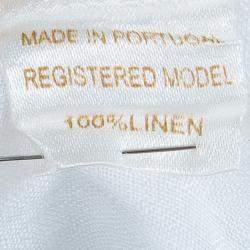 Oscar de la Renta White Linen Long Sleeve Dress 5 Yrs