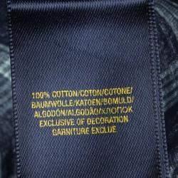 Ralph Lauren Navy Blue Checked Cotton Short Sleeve Buttondown Shirt 2 Yrs