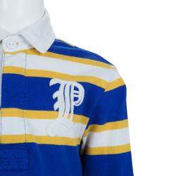 Ralph Lauren Blue and Yellow Striped Long Sleeve Polo T-Shirt 5 Yrs