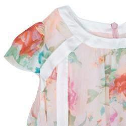 Roberto Cavalli Angels Multicolor Floral Print Silk Dress 6 Yrs