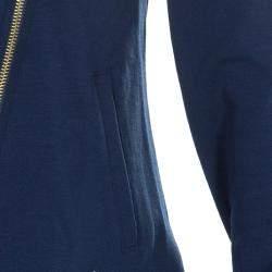 Roberto Cavalli Angels Navy Blue Frill Detail Biker Jacket 8 Yrs