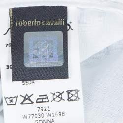 Roberto Cavalli Angels White Printed Tiered Skirt 10 Yrs