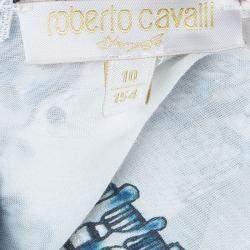 Roberto Cavalli Angels White Printed Tiered Maxi Dress 10 Yrs
