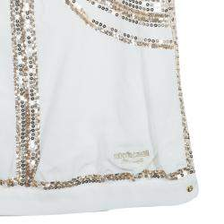 Roberto Cavalli Angels White Sequin Embellished Sleeveless Dress 14 Yrs