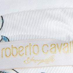 Roberto Cavalli Angels White Leather-Trim Jacket 8 Yrs