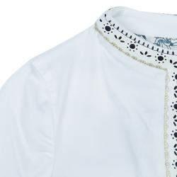 Roberto Cavalli Angels White Leather Trim Jacket 10 Yrs