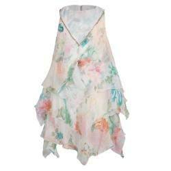 Roberto Cavalli Angels Floral Printed Chiffon Layered Sleeveless Dress 4 Yrs