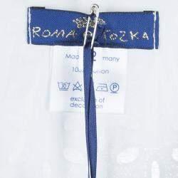 Roma e Tosca White Eyelet Embroidered Sleeveless Dress 12 Yrs