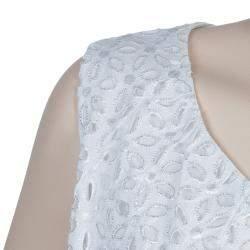 Roma e Tosca White Eyelet Embroidered Sleeveless Dress 14 Yrs