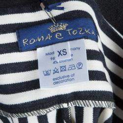 Roma e Tosca Monochrome Striped Leggings 11 Yrs