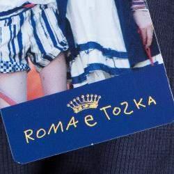 Roma e Tosca Navy Blue Printed Trim Bolero Top 12 Yrs