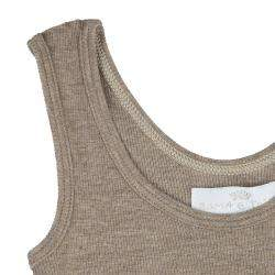 Roma e Tosca Brown Sleeveless Tank Top 4 Yrs