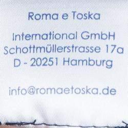 Roma e Tosca Black Contrast Neckline Tshirt 12 Yrs
