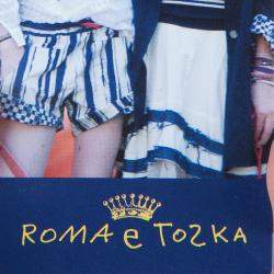 Roma e Tosca Dark Grey Contrast Pintuck Detail Tshirt 10 Yrs