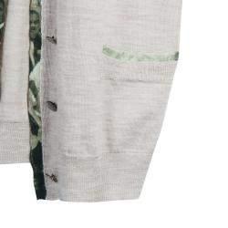 Roma e Tosca Beige Silk Trim Merino Wool Cardigan 12 Yrs