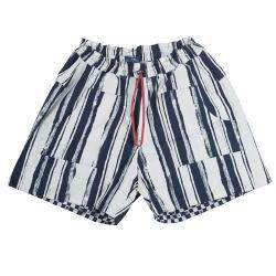 Roma e Tosca Blue & White Striped Adjustable Shorts 12 Yrs