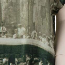 Roma e Tosca Beige New York Printed Silk Tunic Dress 12 Yrs