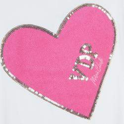 VDP White Embellished Heart Detail Sleeveless Top 8 Yrs