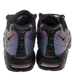 Nike Air Max 95  Black/Purple Leather Marathon Running Sneaker Size 42.5