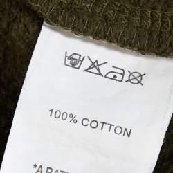 A Bathing Ape Green Camo Print Cotton Shark Full Zip Hoodie M