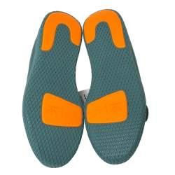 Pharrell Williams x Adidas Raw Green Cotton Knit PW Tennis Hu Sneakers Size 46