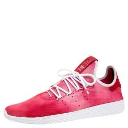 Pharrell Williams x Adidas Red Cotton Knit PW Tennis Hu Sneakers Size 46