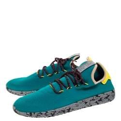 Pharrell Williams x Adidas Green Mesh Tennis Hu 'Teal' Sneakers Size 46