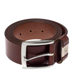 حزام إيغنر إتين كاجوال جلد بني 110 سم