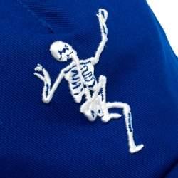 Alexander McQueen Blue Cotton Dancing Skeleton Baseball Cap S