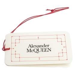 Alexander McQueen Black Logo Embroidered Silk Tie