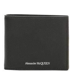 محفظة كلبس نقود أليكساندر ماكوين جلد سوداء