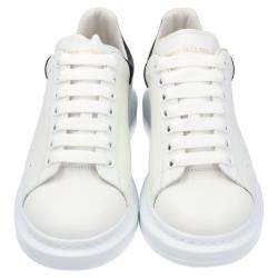 Alexander McQueen White Leather Oversized Sneakers Size EU 42