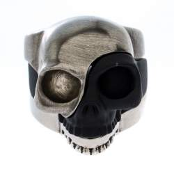 Alexander McQueen Tri Tone Divided Skull Ring Size 19