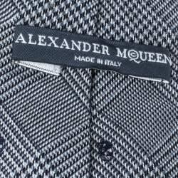 ربطة عنق أليكساندر ماكوين برينس أوف وايلز  صوف و حرير جمجمة رصاصي