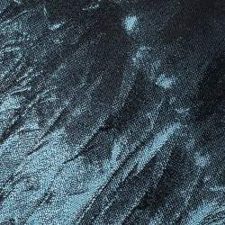 Alexander McQueen Blue & Black Feather Silk Jacquard Tie