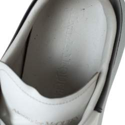 """حذاء رياضي أليكساندرماكوين """"لاري"""" منخفض من أعلي جلد أسود و أبيض مقاس 40"""